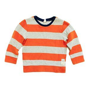 Baby Gap Striped Waffle Knit Sweatshirt